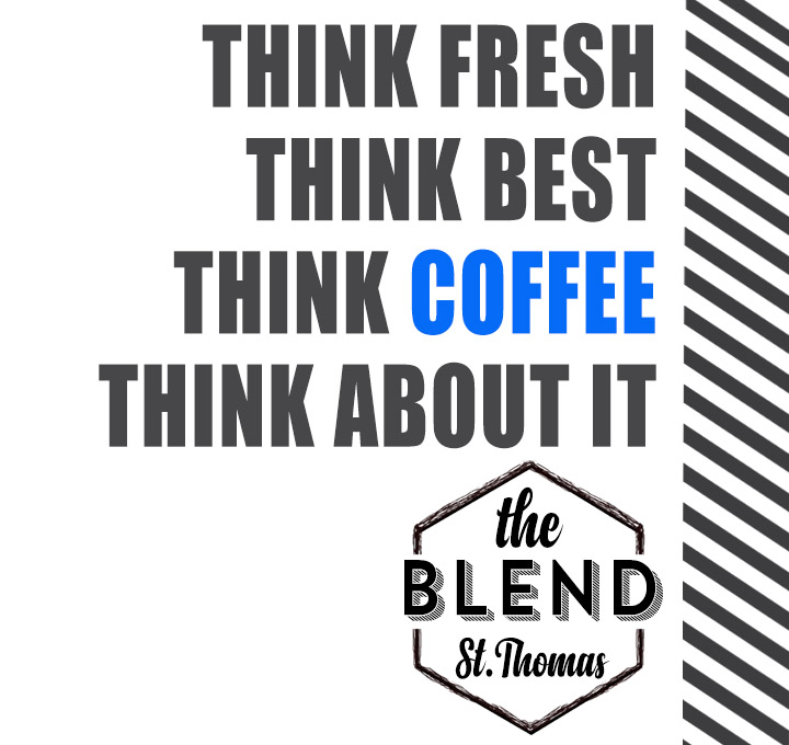 banner with think fresh, best, coffee, think about it!